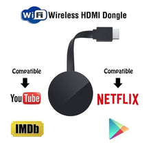 Load image into Gallery viewer, WiFi Display HD TV Screen Mirroring TV Wireless Dongle For Google Chromecast 2 For Netflix YouTube Crome Chrome Cast Cromecast