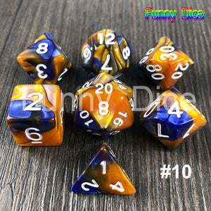 Magic Green Grey 7pcs DND Dice Set