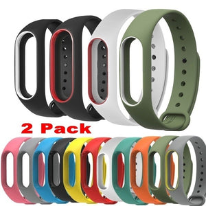 New 2x Mi Band 2 Strap for Xiaomi Miband 2 Bracelet Silicone Wristband Smart Band Replace Accessories for Xaomi Miband2 Guangzhou