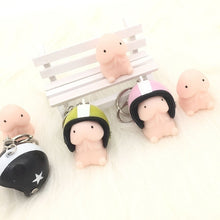 Load image into Gallery viewer, TPR Mochi Squishy Squeeze Healing Toy Soft Fun Joke Helmet Keychain Pendant Strap Key Ring Funny Kids Toys