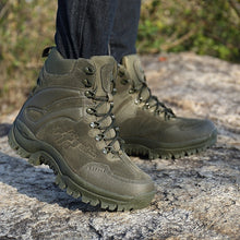 Load image into Gallery viewer, Men's Outdoor Military Tactical Boots High Top Waterproof Leather Hiking Boots Non-Slip Wear-Resistant Ankle Boots Male Combat Boots