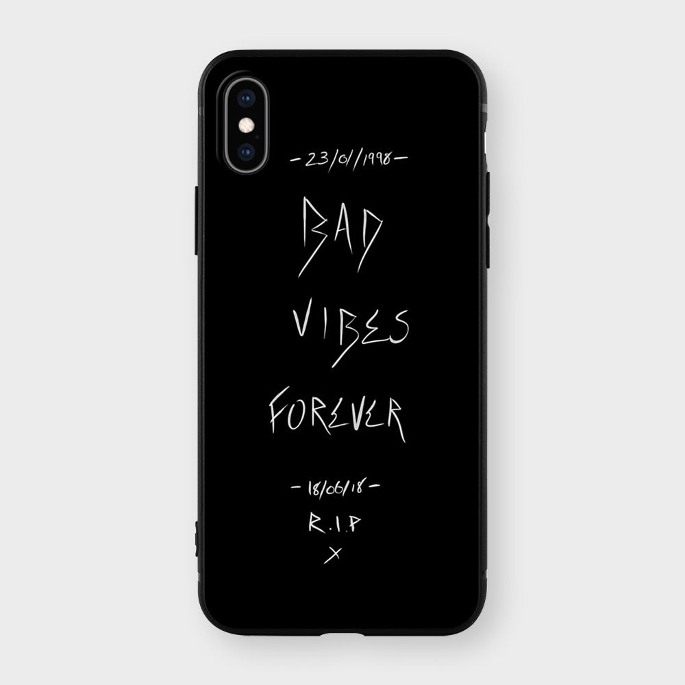 Bad Vibes Forever Xxxtentacion Print Soft TPU Matt Case For Apple iPhone and Samsung Galaxy