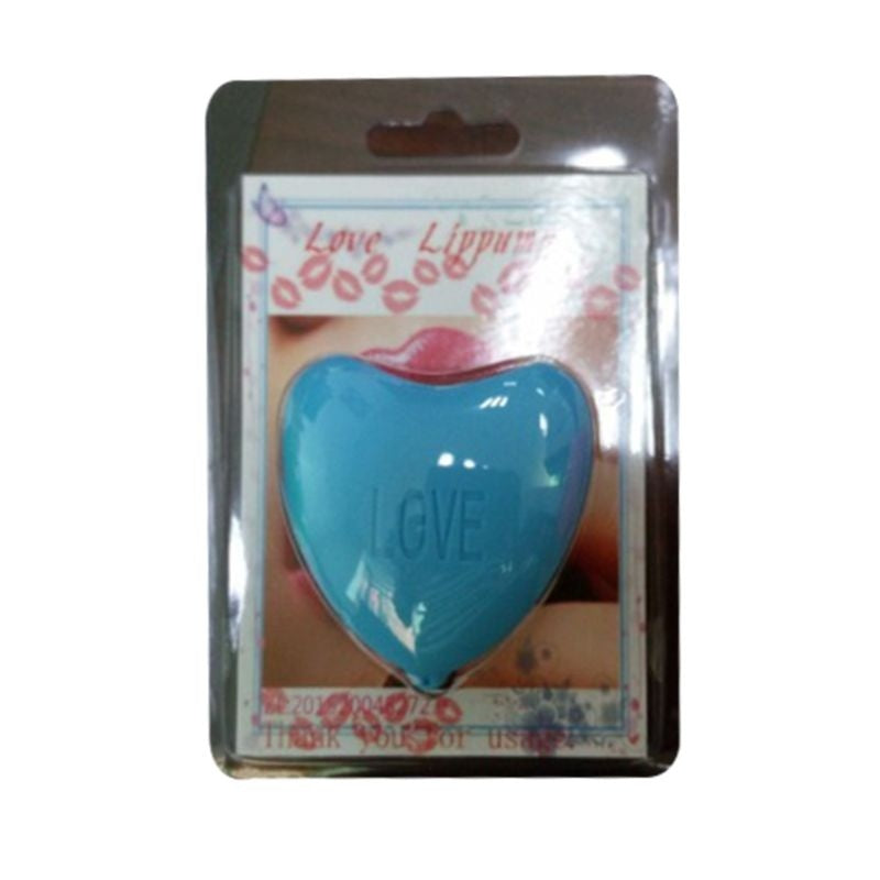 Women Healthy Love Heart Shape Lips Plumper Enhancer Soft Silicone Beauty Tool For Making Lip Fuller Device Portable 3 Colors KIK
