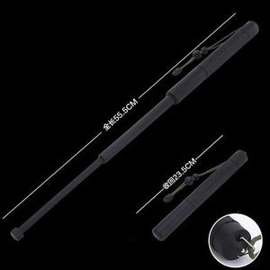 Cool Bright Black Outdoor Tool Portable Stick Self-defense Supplies Retractable Defensive Sticks Gift