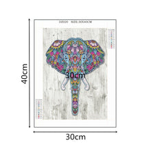 Load image into Gallery viewer, Elephant Special Shaped Diamond Painting DIY 5D Partial Drill Cross Stitch Kits