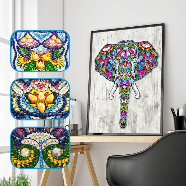 Elephant Special Shaped Diamond Painting DIY 5D Partial Drill Cross Stitch Kits