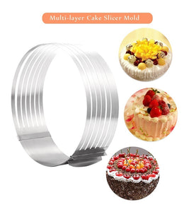 Layer Cake Slicer Adjustable Retractable Stainless Steel Mousse Mold Round Baking Kit Mould Cut Tools