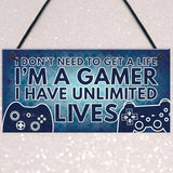 Gamer I'M A GAMER Best Friend Gift Novelty Birthday Hanging Plaque Gift