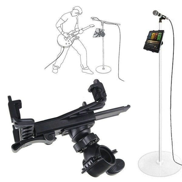 Music Microphone Stand Holder Mount For 7-11 inch Tablet iPad 2 3