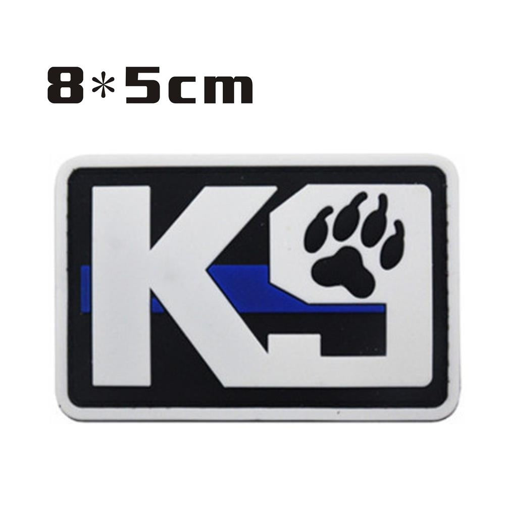 K9 Dog Tactical Morale Embroidery Patch Claw Emblem Service Dog Trainning Armband Combat Badges Stickers For Clothing Backpack