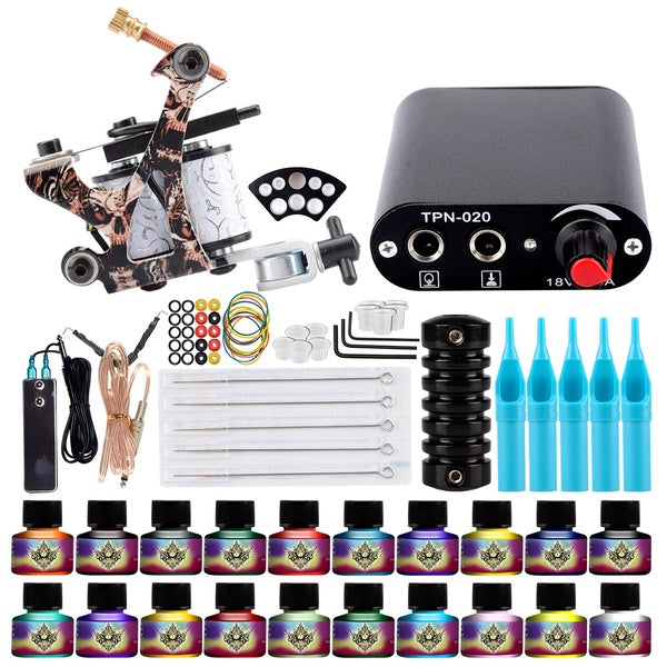 Complete Tattoo Machine Set 4 Colors Tatoo Beginner Kits