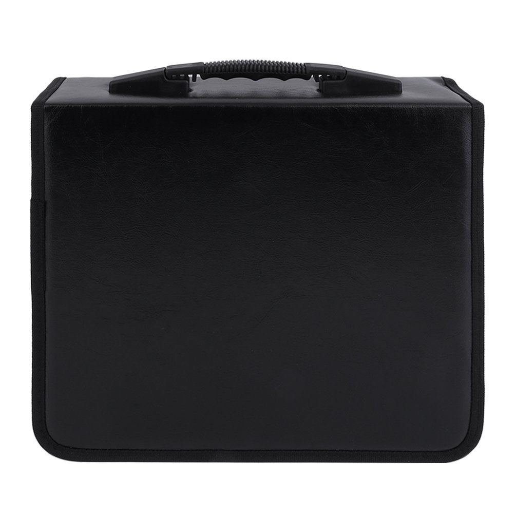 High Grade PU Leather 400 Disc CD DVD Storage Holder Carry Case Bag Organizer