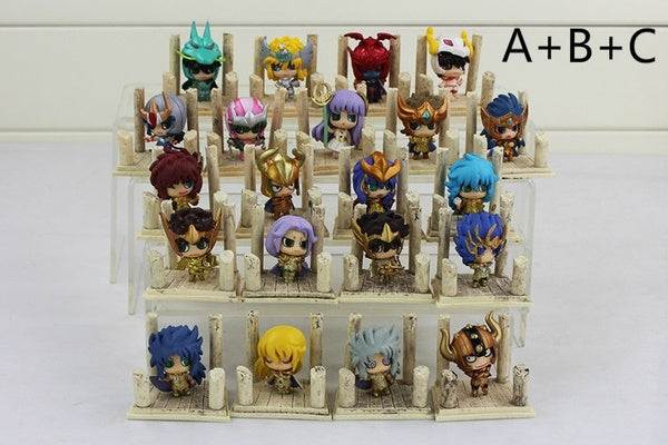 7pcs/lot Saint Seiya SHIRYU HYOGASHUNIKKI JABUl Knights of Zodiac PVC Action Figure Model with box