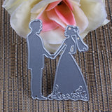 metal cutting dies cut die mold groom and bride frame Scrapbook paper craft knife mould blade punch stencils die