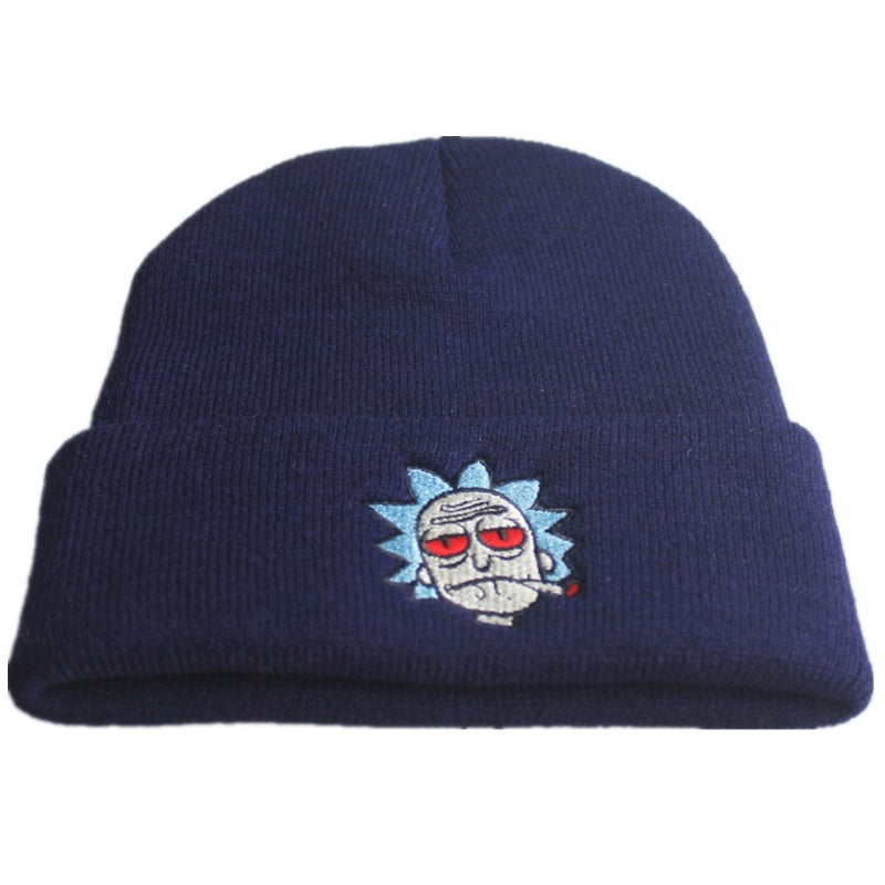 2019 Classic Women Men Unisex Warm Winter Rick and Morty Knitted Hat Printed Caps Beanie Cap Hip Hop Cap
