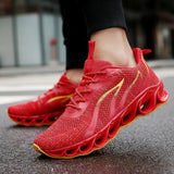 Newst Men Breathable Flying Weave Running Sport Shoes Fashion Casual Mesh Sneakers Outdoor Lightweight Trainers Shoes