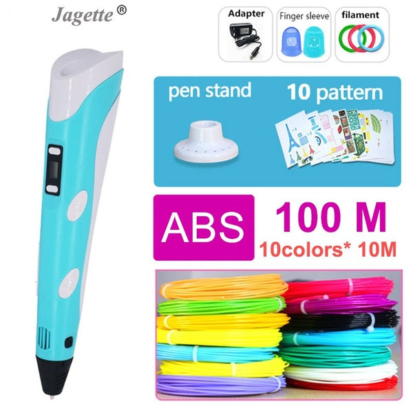 3d pen 3 d pen include ABS 100m 3d printer pen the kids Drawing Tool magic pen the best gift Christmas presents