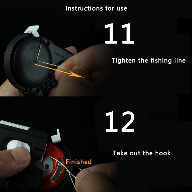 The New Portable Electric Automatic Fishing Hook Tier,Automatically bundled fishing line,Novice simple operation,Fast Fishing Hooks Line Tying Device Equipment,Fishing tool accessories
