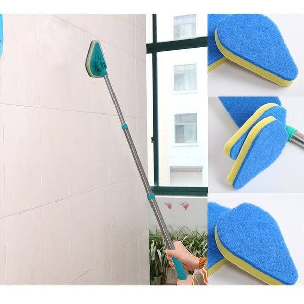 3 in 1 Multifunction Easy Magic Floor Spin Mop Cleaning Pod Brush Scrubber With Handle