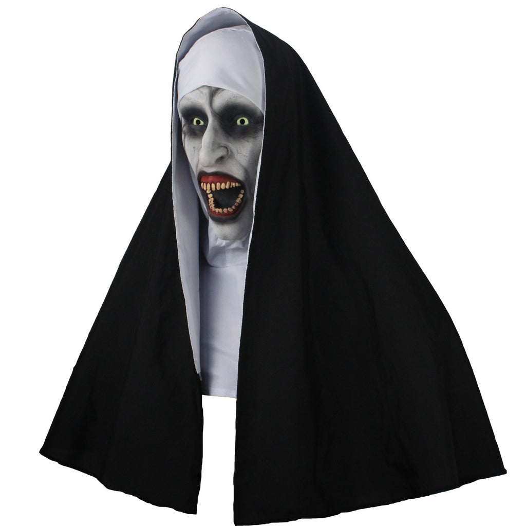 The Nun  Horror Mask Cosplay Valak Latex Mask Turban Full Face Helmet Halloween Party Props