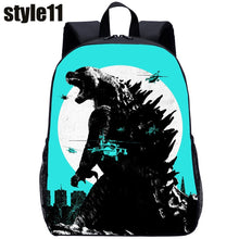 Load image into Gallery viewer, 3D Monster Godzilla Student Backpack Travel Backpack Children Double Shoulder Pack Creative Cartoon Fashion Backpack