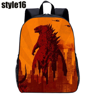 3D Monster Godzilla Student Backpack Travel Backpack Children Double Shoulder Pack Creative Cartoon Fashion Backpack