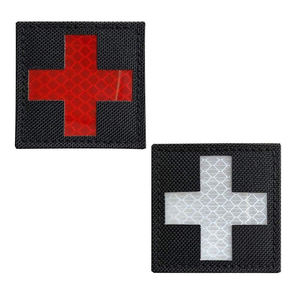 Reflective Medical Patch IR Military Patch Nylon Fabric Badges Morale Patch Tactical Stickers with Hook & Loop