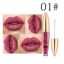 Load image into Gallery viewer, Pudaier Sexy Colors Changing Glitter Lipstick Liquid Metallic Lip Gloss Diamond Waterproof Pearl Lipgloss Women Lip Makeup L¨¢piz Labial Batom