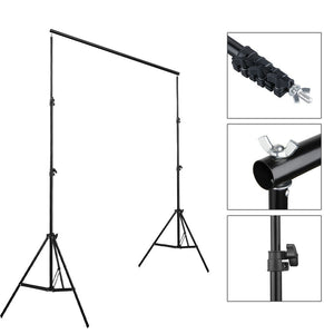 Upgraded 10Ft Pro Photography Photo Backdrop Support Stand Set Background Crossbar