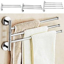 Load image into Gallery viewer, Two/three/four Bars Stainless Steel Towel Bar Rotating Towel Rack Bathroom Towel Rack Accessory