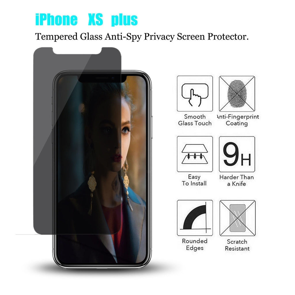 1Pcs Anti-Spy Privacy Tempered Glass Screen Protector for IPhone XS / XR / XS MAX / IPhone X 8 8 Plus 7 7 Plus 6 6s Plus New