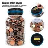 1x Large Digital Creative Fashion LCD Screen Coin Counting Save Money Automated Coin Bank Electronic Coin Counting Creative Money Saving Box