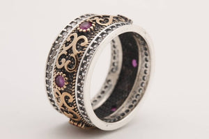 925 Sterling Silver Rings Natural Gemstone Amethyst Rings Wedding Rings for Women