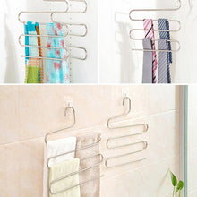 Load image into Gallery viewer, 5 layers S Shape MultiFunctional Clothes Hangers Pants Storage Hangers Cloth Rack Multilayer Storage Cloth Hanger 1PC