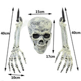 Halloween Horror Buried Alive Ghost Head Skeleton Claw Skull Garden Yard Lawn Decoration