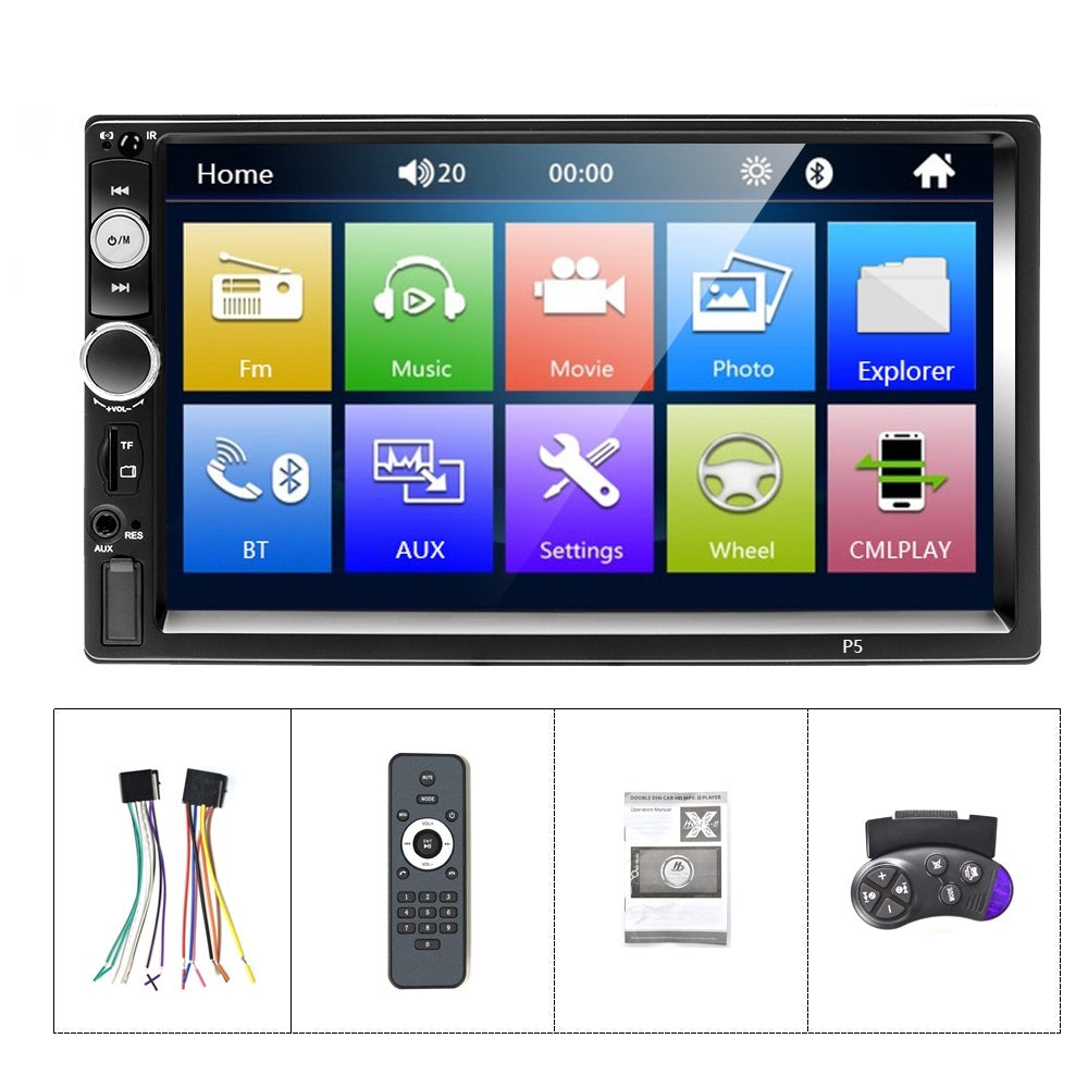 Double Din 7'' HD Car MP5 Radio Video Player Bluetooth Autoradio With Mirror Link DVR FM AUX USB SD Touch Screen Music Movie Player+CAM