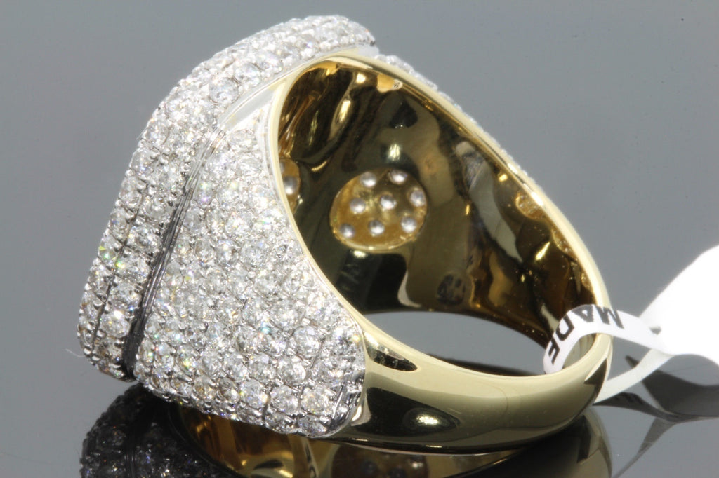 18k Yellow Gold Filled 5.73 CT MENS REAL DIAMOND ENGAGEMENT WEDDING PINKY RING BAND