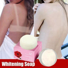 Load image into Gallery viewer, Whitening Soap Natural Active Enzyme Body Whitening Crystal Soap Skin Fade   Elbow Removing Melanin Handmade Flower Essential Oil Soap