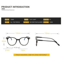 Load image into Gallery viewer, 1 Piece Fashion Spectacle Optical Vintage Frame Glasses Clear Lens Vintage Computer Anti-Radiation Eyeglasses