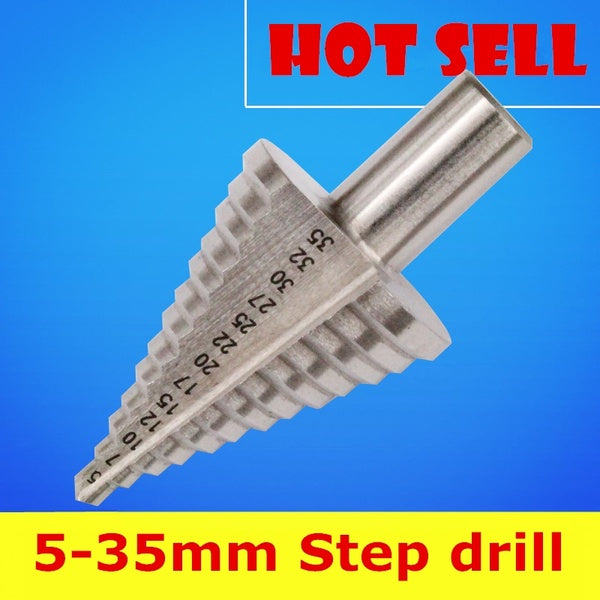 5-35MM HSS Step Drill Tool 13 Steps Multiple Hole Metals Platic Wood Cone Drill Bits