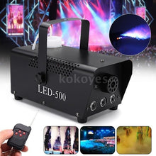 Load image into Gallery viewer, 500W Large Capacity Portable Fog Machine LED Wireless Smoke Fog Fogger Machine With Remote Contol For Stage Party Club Bar Weddings Holidays