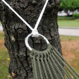 Latest Portable Hammock Mesh Net Rope Camping Garden Swing Hanging Bed