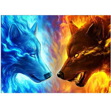 Load image into Gallery viewer, 5D Diamond Painting Decor Full Drill Diamond Art Modern Style Animal Wolf Diy Diamond Mosaic Set Wall Art Decorative Painting Home Decor Picture Rhinestone Painting Diamond Embroidery