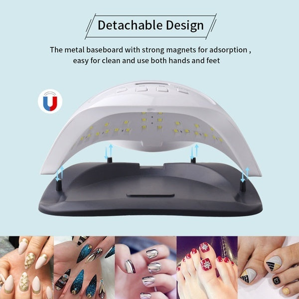 200W 42Pcs LED Sunx7 Plus UV Nail Lamp 10s/30s/60s/Keep On Optional Time Setting For Phototherapy Glue Cat Eye Glue etc