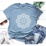 New Arrival Women New Fashion Plus Size T-shirt Short Sleeve O-neck Women Summer Blouse Flower Print Women Casual Graphic T-shirts