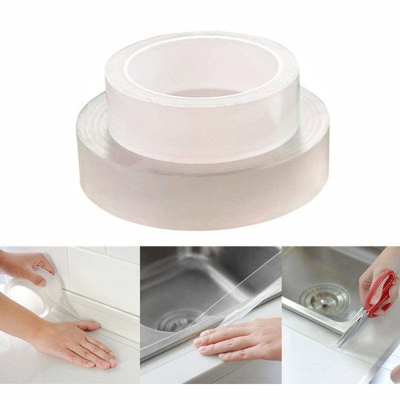 3/5*30cm Transparent Adhesive Tape Kitchen Sink Joint Crevice Sticker Corner Line Sticking Strip Waterproof Tape