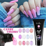 1pcs Poly Gel Crystal Extend UV Nail Gel Extension Builder Polygel Nail Art Gel Lacquer Jelly Acrylic Builder UV Nail Poly Gel