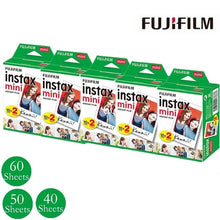 Load image into Gallery viewer, Fujifilm Instax Mini Film White Edge Photo Papers For Mini 7c/7s 8 9 25 55 70 90 Share SP-1 Instant Camera 40/50/60 Sheets