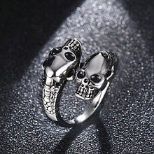 Load image into Gallery viewer, Fashion Gothic Stainless Steel Ring Men Punk Gold / Silver Skull Rings For Women Men Adjustable Ring Party Jewelry Halloween Decor Gifts