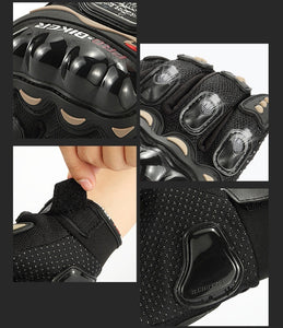 Motorcycle Bicycle Riding Gloves Cross-country Protective Equipment Racing Gloves (Carbon Fiber Touch Screen Motorcycle Riding Tribal Equipment)